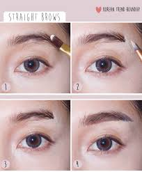 straight eyebrows korean beauty trends though i m bias because my eye brows don t naturally arch