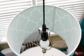 turn a lamp shade upside down and use it as a pendant light