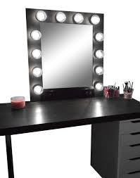 enjoyable inspiration ideas vanity mirror with lights and desk makeup lighted mesmerizing corner white glossy rectangle table drawer plus added