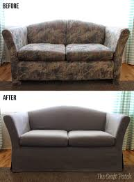 Cool couch covers Extra Large Sofa Awesome Couch Makeover With Custom Slip Cover Sheesh That Couch Was Ugly Ebay Awesome Couch Makeover With Custom Slip Cover Sheesh That