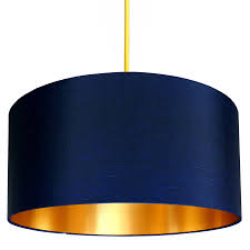midnight blue shade with copper or gold lining lampshades