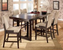 Kitchen Counter High Dining Table With Bench Height Leaf And