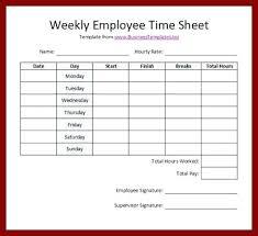 Printable Employee Time Sheets Template Weekly Degree Free Timesheet ...