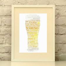 beer print personalised beer print gift for dad gift for men kitchen