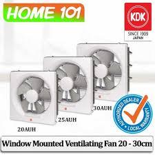 kdk window mount exhaust ventilation fan 20 25 30cm 20auh 25auh