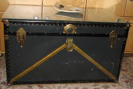Black Steamer Trunk Coffee Table Vintage Trunk Coffee Table Antique Trunk Coffee Table Image