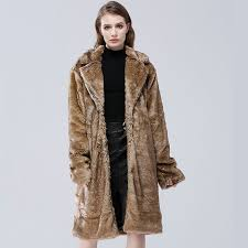 winter fur overcoat long faux fur women imitation mink winter thick warm faux fur coat jacket