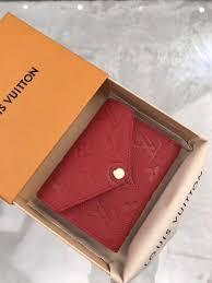 lv bag monogram victorine louis vuitton wallet m64061 red purse leather