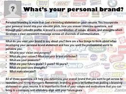 personal brand - Resume Branding Statement Examples