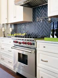 White Stone Kitchen Backsplash Subway Tile Definition Sleek Stainless Steel Microwave Wooden
