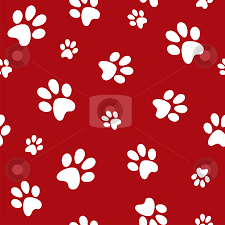 red dog bone background. Perfect Bone Dog Footprints Stock Photo For Red Bone Background C