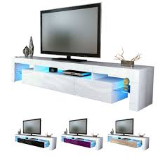 White High Gloss Modern Tv Stand Unit Media Entertainment Center