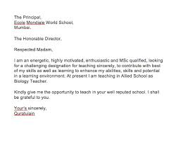Application For Teaching Job Application Letter For Teaching Job In School Top Form Templates