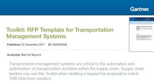 Toolkit: Rfp Template For Transportation Management Systems | Bart ...