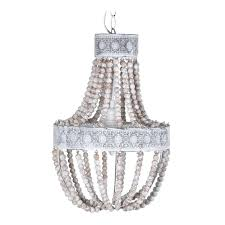 elena wood bead chandelier natural wooden bead chandelier with distressed