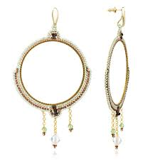 bonita large chandelier earrings in desert