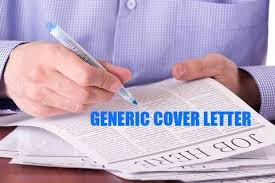 Cover Letters For Job Fairs Generic Cover Letter