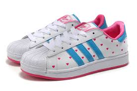 adidas shoes for girls superstar pink. adidas superstar ii love heart shoes white pink blue for girls s
