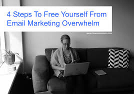 4 steps to yourself from email marketing overwhelm