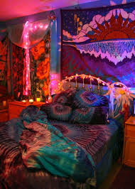 Tapestry Bedroom Bold Bohemian Bedroom Style With String Lights And Tapestry With