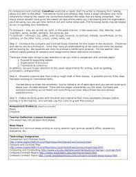 Compare Contrast Essay Ohio Literacy Resource Center