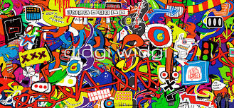 pixel large abstract canvas wall art on rock n roll wall art with modern landscape abstract wall art sex and drugs and rock n roll