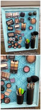 diy bathroom organizer ideas diy magnetic makeup and beauty tools decorative space saving organization board