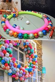 diy-large-christmas-wreath wrap in pretty ribbon and use candy canes not  ornaments