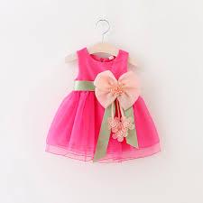2019 New Baby Girls Sleeveless Lace Cake Bow Dress Children Toddler