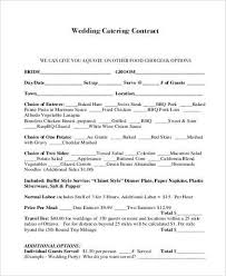 wedding catering contract sample wedding catering contract sample