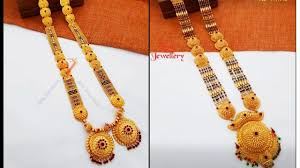 Ganthan Design In Gold Latest Light Weight Gold Haram Designs L Gold Jewellery