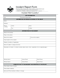 Incident Report Form Template Word Uk Azizim Co