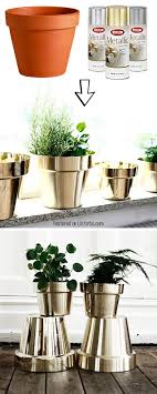 turn terracotta pots to gold