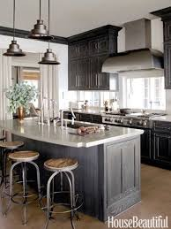 dark stained kitchen cabinets. Incredible Dark Stained Kitchen Cabinets Plain Regarding Interior Intended For Grey I
