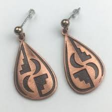 wm co jewelry wm pany copper teardrop earrings southwest