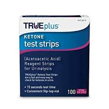 True Plus Ketone Test Strips Color Chart Trueplus Ketone Test Strips Ideal For Low Carb Dieters And People With Diabetes Made In Usa Urinalysis Test Sticks 100