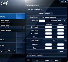 Graphics Resolutions Intel® And For Custom Drivers Modes fq7wdx