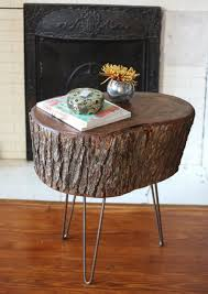 wood stump furniture how to diy stump table 17