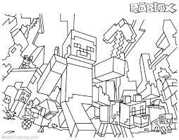 Minecraft Coloring Pages Printable 9 Steve Auchmar