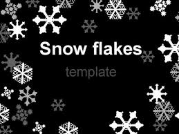 Snowflake Bullet Point Snowflake Template On Black