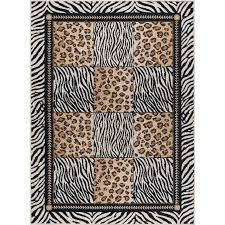 5 x 7 medium black and bronze animal print area rug laa rc willey furniture