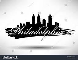 Graphic Design Philadelphia Vector Graphic Design Philadelphia City Skyline Buildings