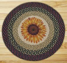 sunflower 100 natural braided jute rug 27 round capitol earth rugs