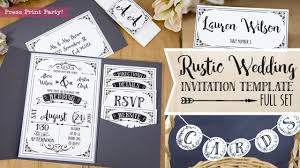 Diy Invitation Template 015 Maxresdefault Rustic Wedding Invites Templates Template