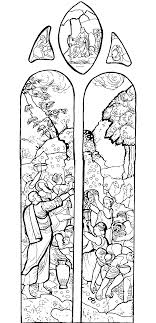 Small Picture Medieval vitrail Stained Glass Coloring pages for adults