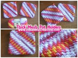 Free Crochet Potholder Patterns Beauteous Thick Mesh Pot Holder Free Crochet Pattern
