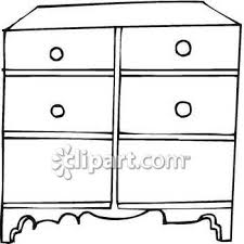 dresser clipart black and white. Delighful White Black And White Clipart Image Of A Dresser  Royalty Free Clip Art Picture Intended And O