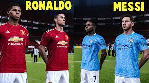 Manchester United vs Manchester City - Ronaldo Returns ft MESSI - YouTube