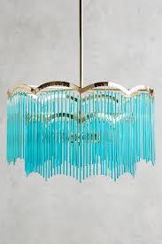 turquoise chandelier light