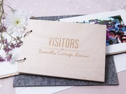 Personalized Hotel Visitor Guest Book Wedding Gift Custom